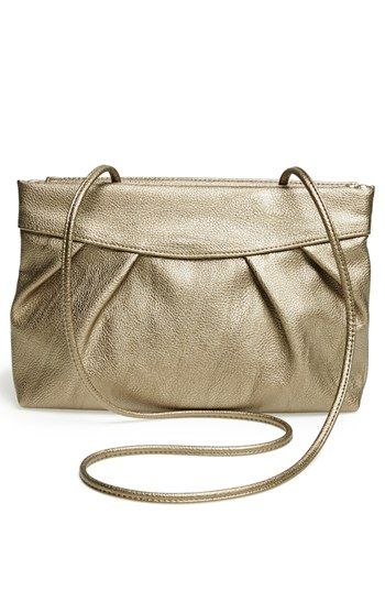 POVERTY FLATS by rian 'Crushed' Hinged Faux Leather Clutch   Nordstrom