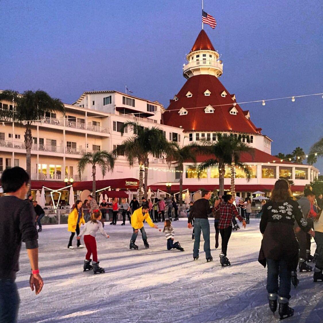 Christmas Ice Skating At The Hotel Del Coronado