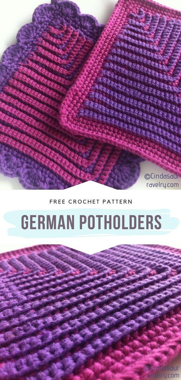 How to Crochet German Potholders