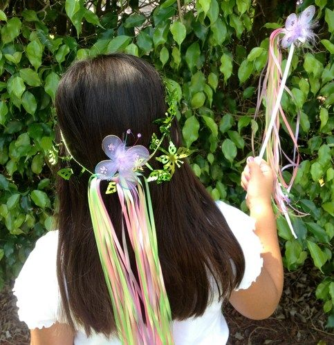 Tinkerbell Fairy Princess Party halos, fairy Wand party favors, | partiesandfun - Clothing on ArtFire