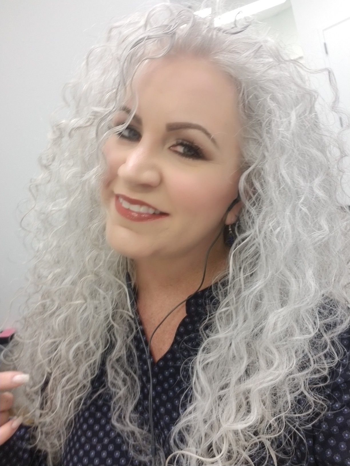 Sarah Chapman Long Grey Hair Natural Curls Natural Curls