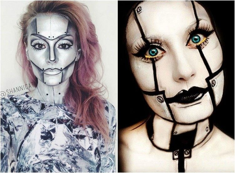 Top Maquillage Halloween: 99 inspirations pour le visage | Maquillage  WV05