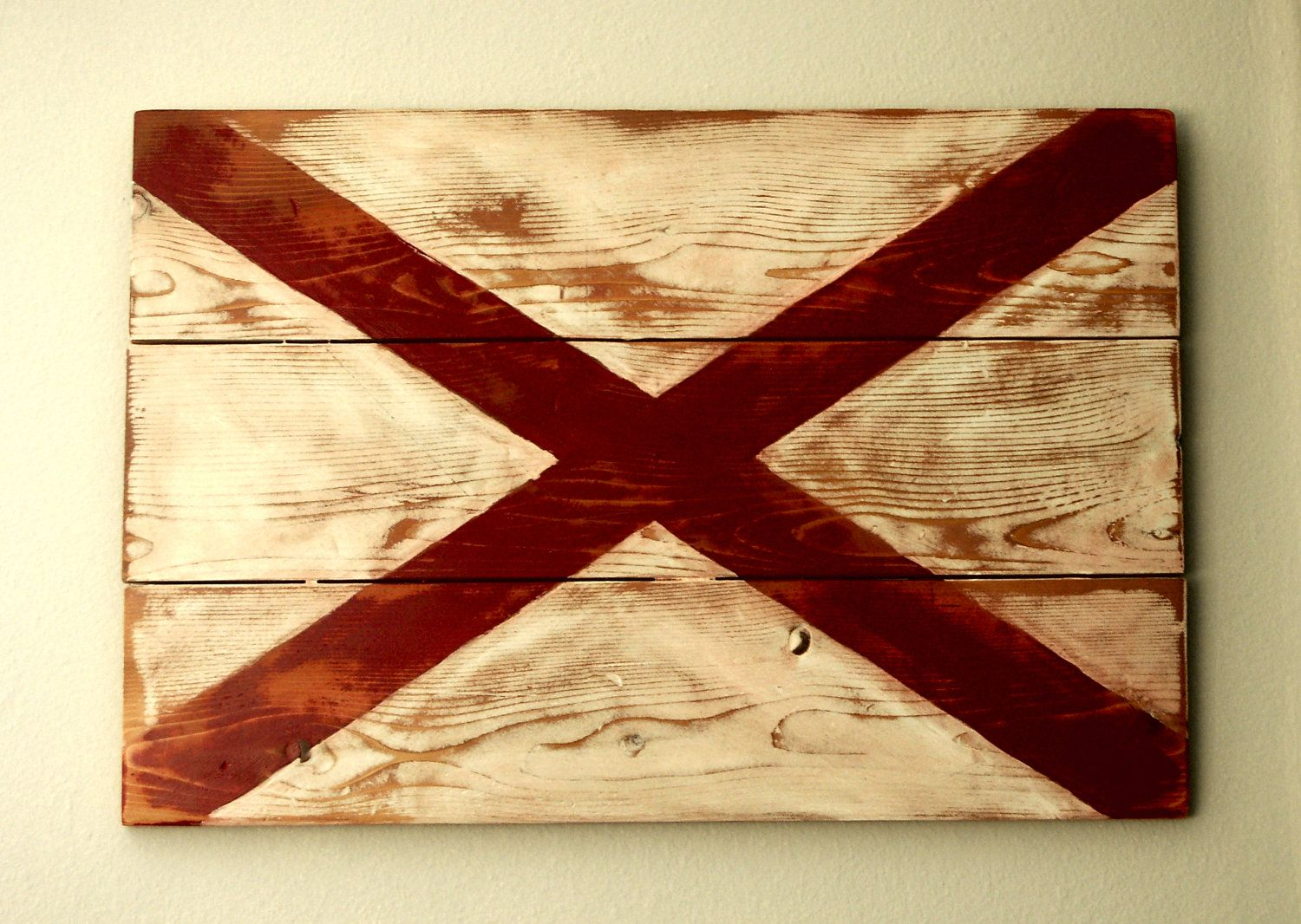 Alabama State Flag. $60.00, via Etsy. | Stuff I want to Paint ...