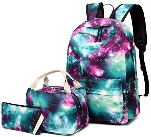 Photo of School Backpack Galaxy Teens Girls Boys Kids School Bags Bookbag with Laptop Sleeve (Galaxy