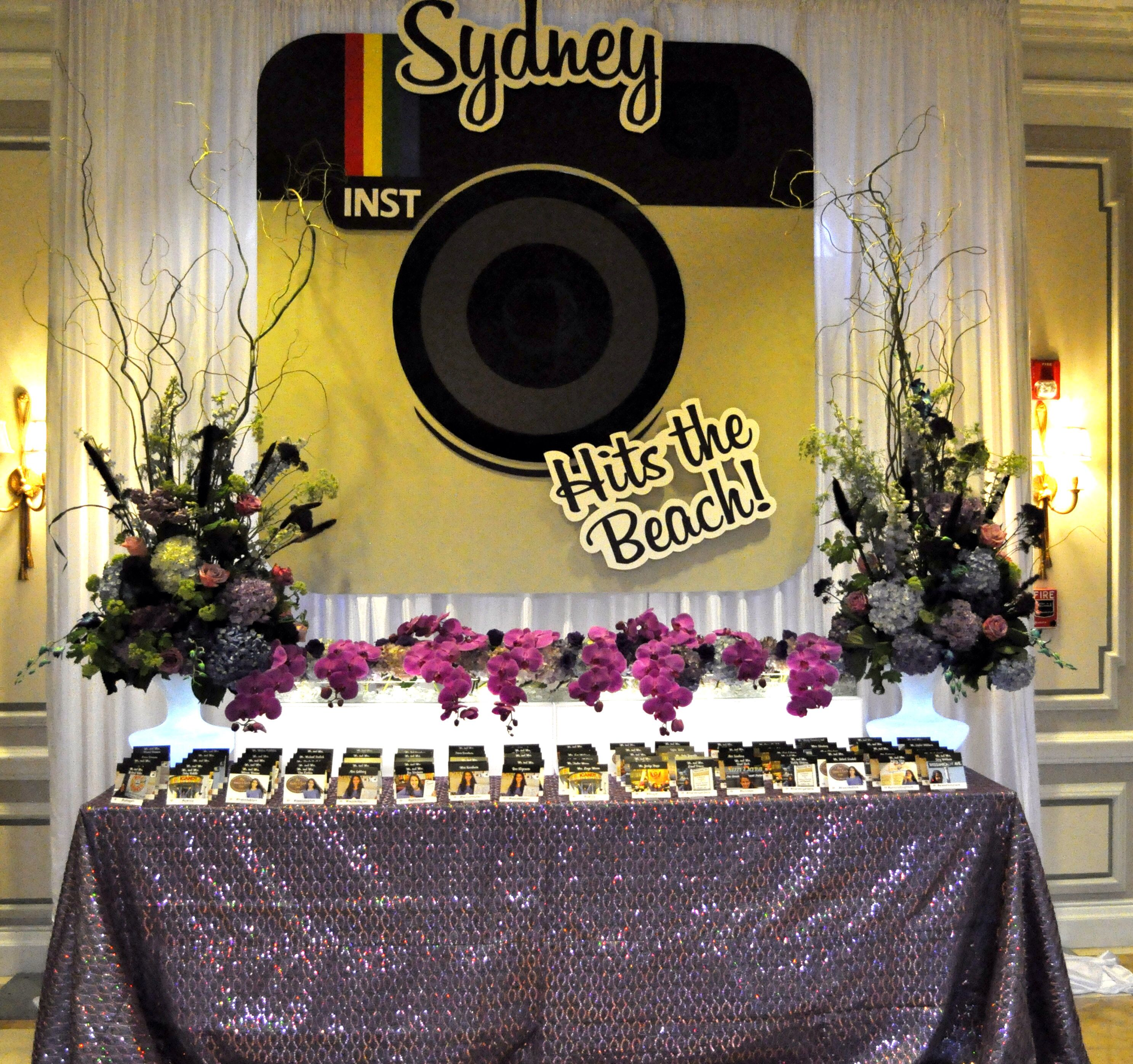 Instagram theme party. Place card Table | Our Exceptional Events ...