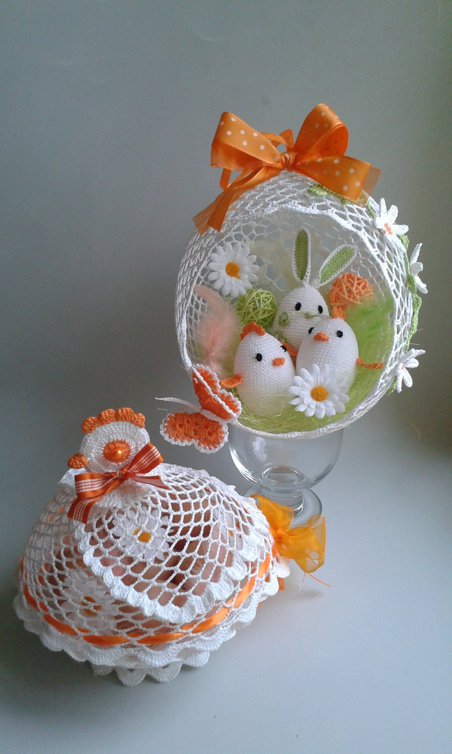 Kurka Szydelkowa Duza Kura Nr 2 Easter Crafts Diy Easter Crafts Crochet Easter Basket