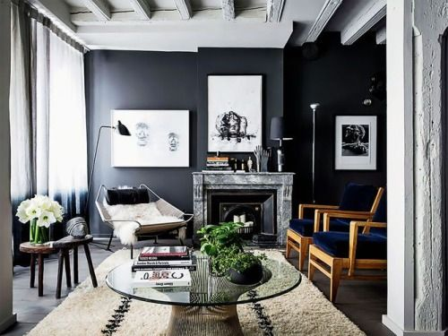 Amazing easy chair by hans  wegner and the lamp from serge mouille fits perfect together  also love composition in room with dark walls best at home images on pinterest ideas my house future rh