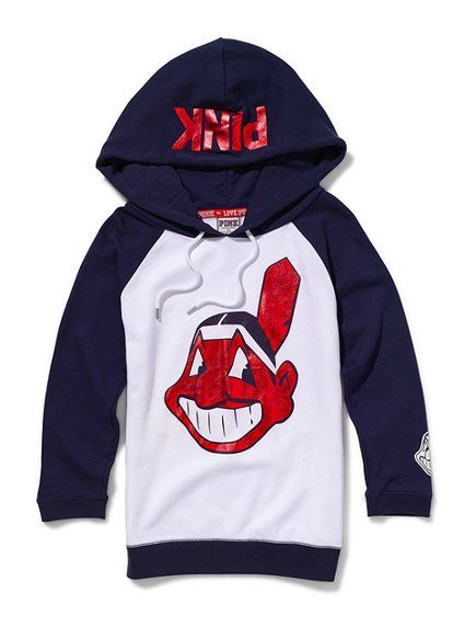 reputable site dfe54 88d78 Cleveland Indians Baseball Hoodie - Victoria's Secret Pink ...