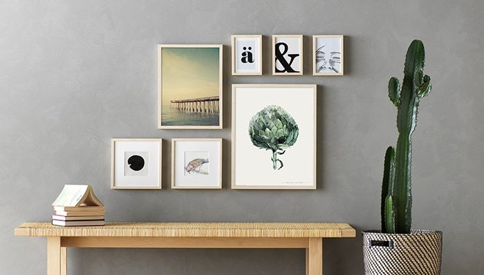 Wanddeko Galeriewand Ikea Bilderrahmen Deko Wand