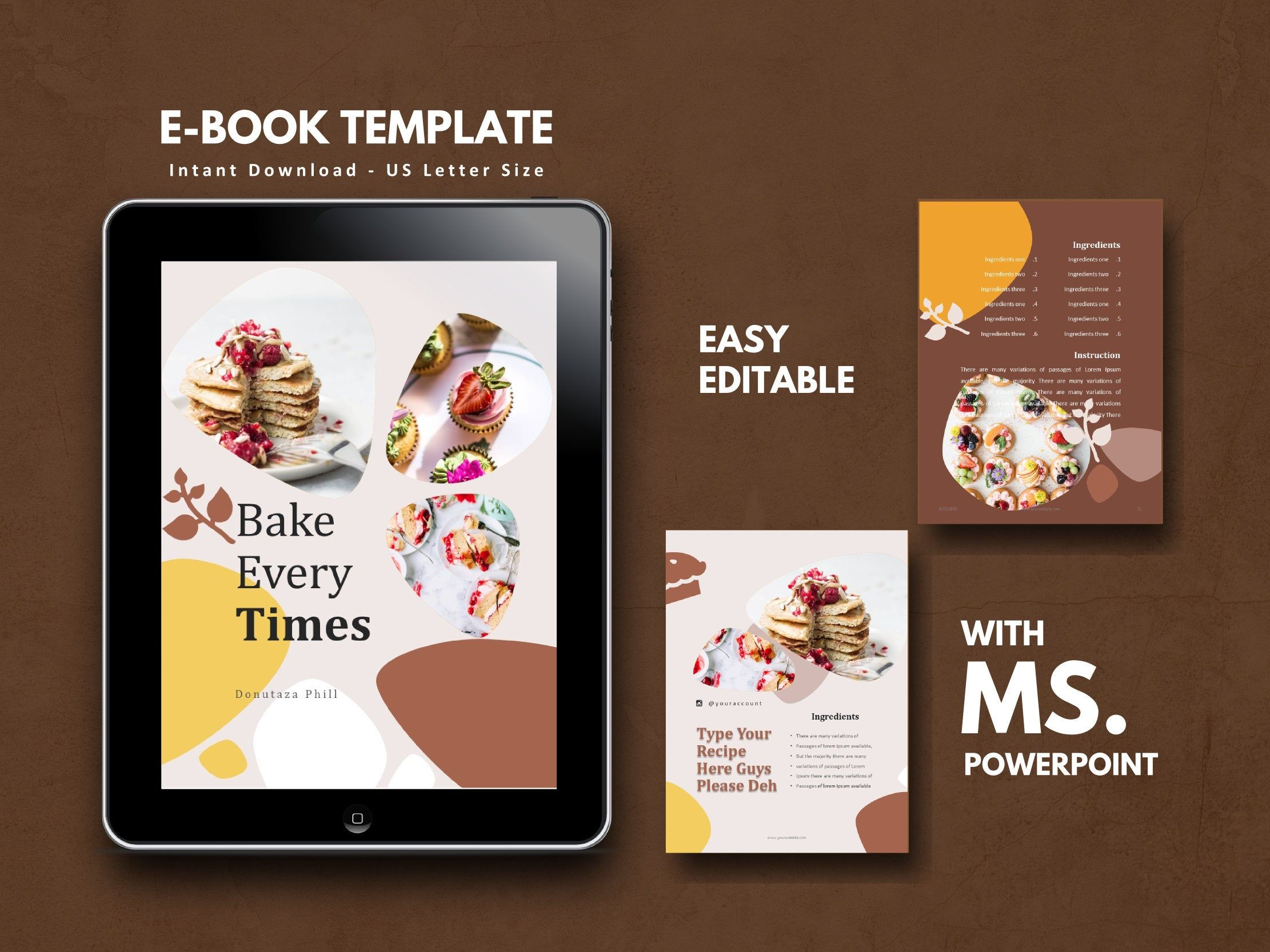 16 Pages Recipe Ebook Template Powerpoint Template Bullet