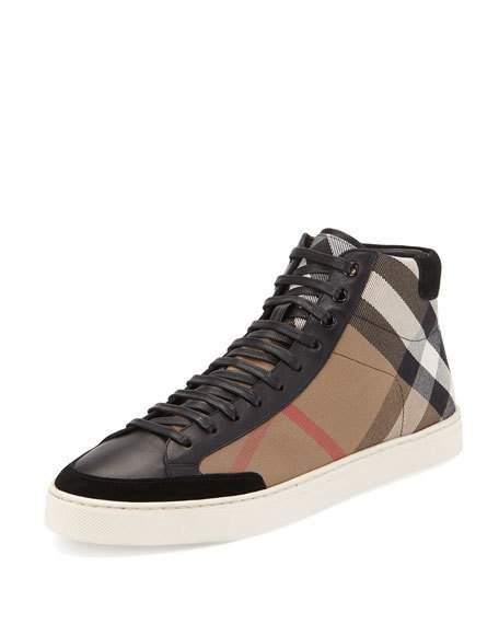a861d8103 Painton Men's Check High-Top Sneaker Black in 2019 | Immediate ...