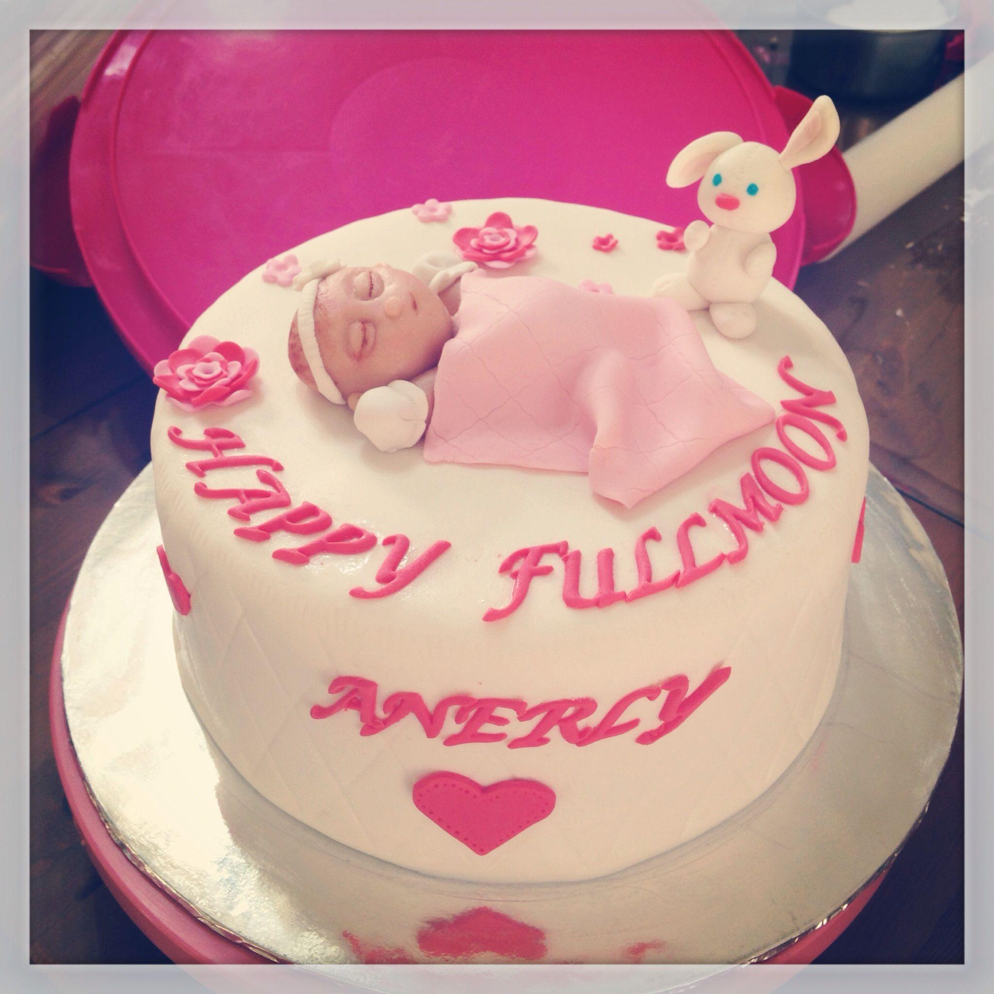 Baby girls fullmoon cake cake moon cake birthday cake