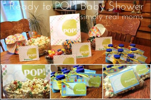 Ready To Pop Baby Shower Theme Complete With Free Printables