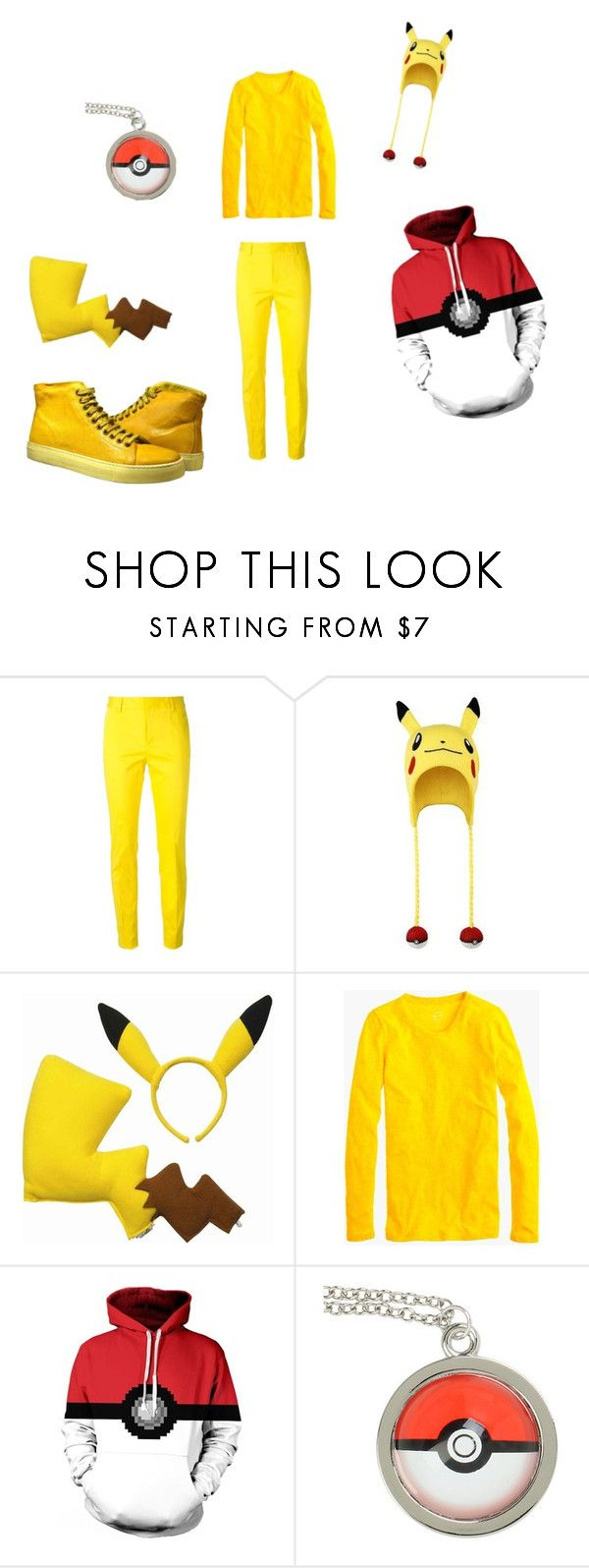 """Pikachu Outfit"" by mercyblood on Polyvore featuring Dsquared2 and J.Crew"