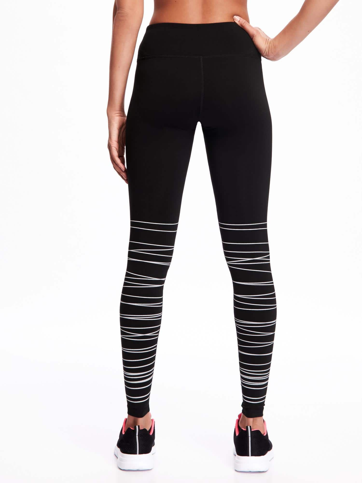f5acdb9e58131 Go-Dry Mid-Rise Textured-Print Compression Tights | Style & Fashion ...