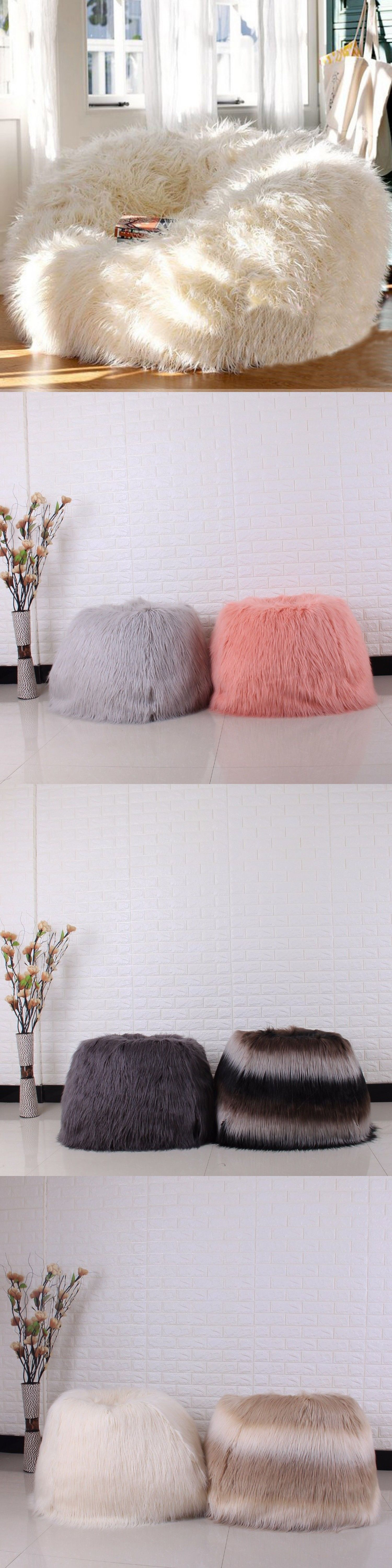 Bean Bags and Inflatables 48319  Furry Bean Bag Cover Lounger Size Sofa  Chair Living Room Beanbags Cover One Seat -  BUY IT NOW ONLY   91.09 on   eBay ... b7cd0d72d4071