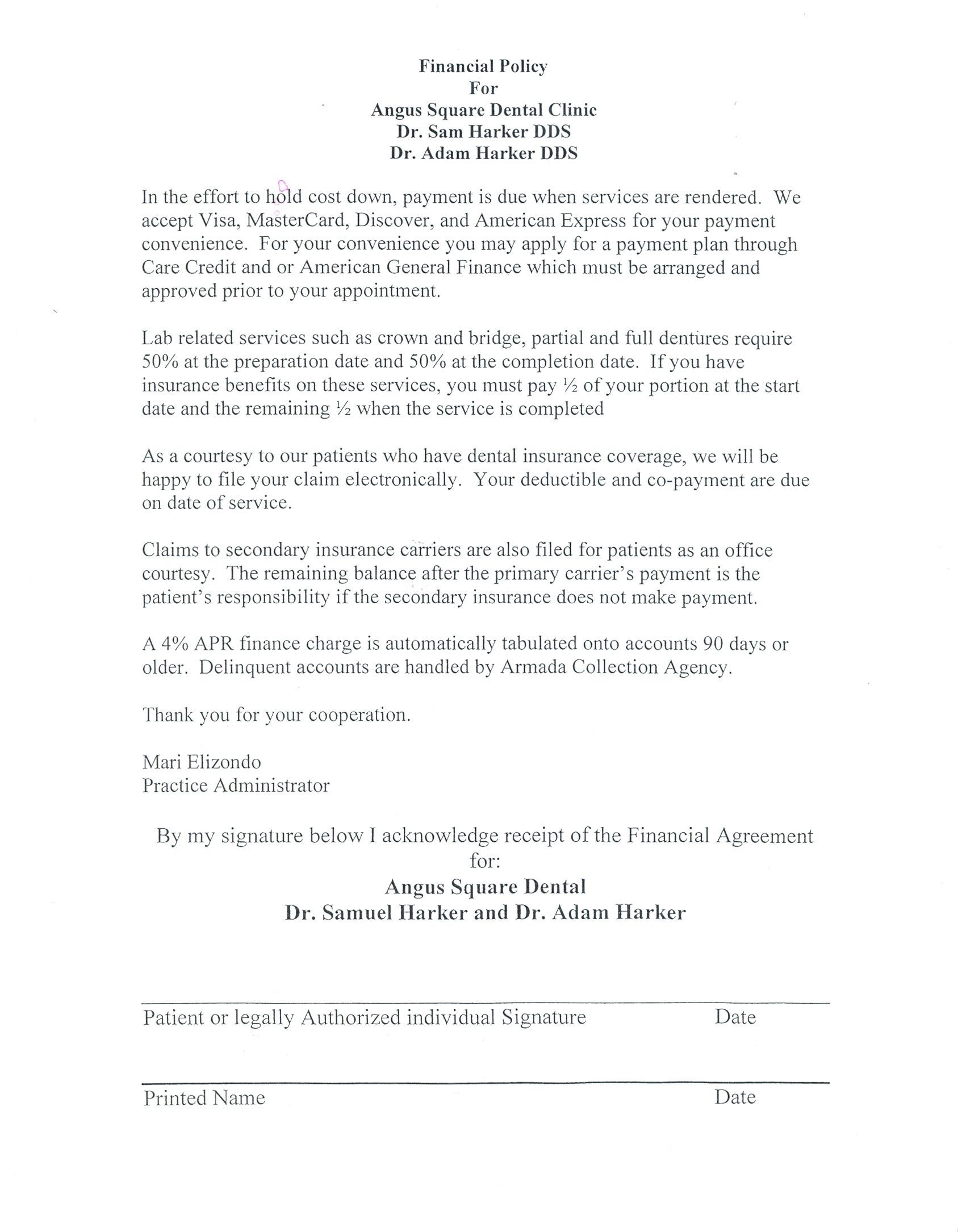 20 Dental Payment Plan Agreement Template Simple Template Design How To Plan Simple Business Plan Template Dental