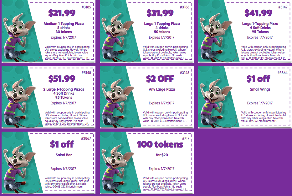 graphic relating to Scene 75 Printable Coupons identify Least complicated 2019 Chuck E Cheese Coupon codes, Cost-free Tokens Tickets