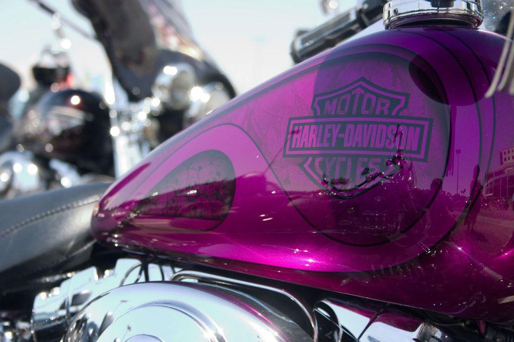 Purple skulls on a Harley Motorcycle paint jobs, Harley