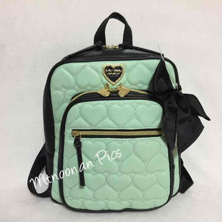 Betsey Johnson Mint Black Backpack Purse - Mercari: Anyone can buy ...