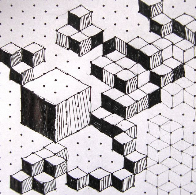Isometric Cuboids 3d drawings, Drawings and 3d - isometric dot paper