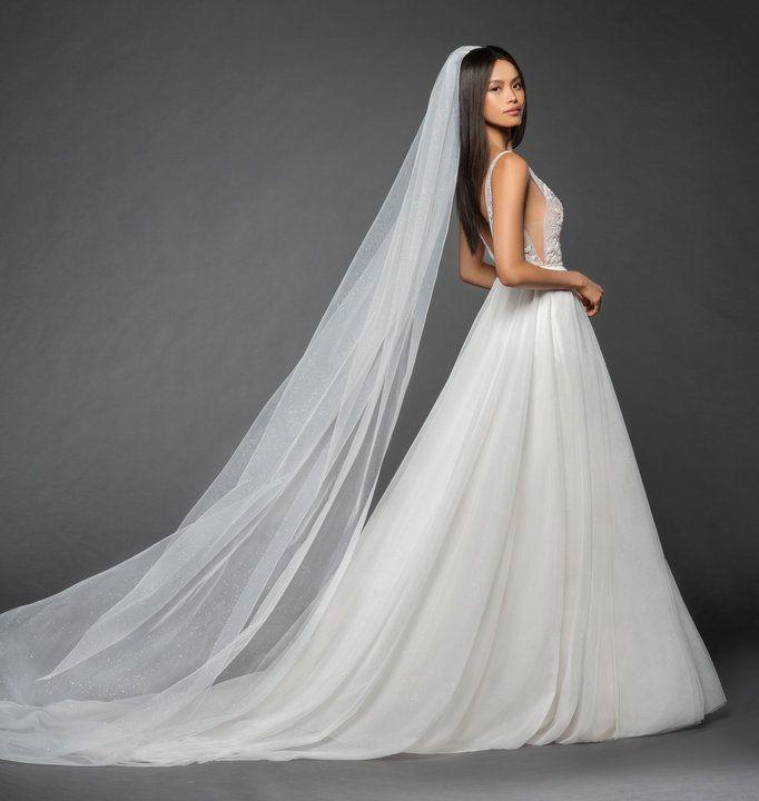 Style L858 Roxana Lazaro Bridal Veil - Ivory sparkle net cathedral ...