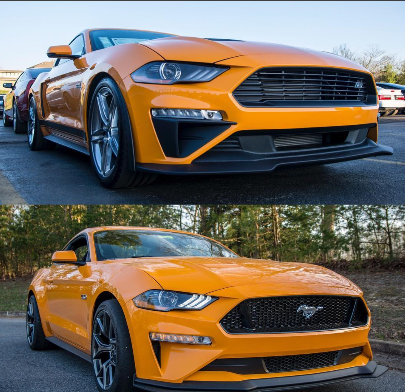 2018 ford mustang ecoboost features an orange fury metallic tri coat exterior with an ebony interior call hacienda ford today at 956 219 2260 to schedule