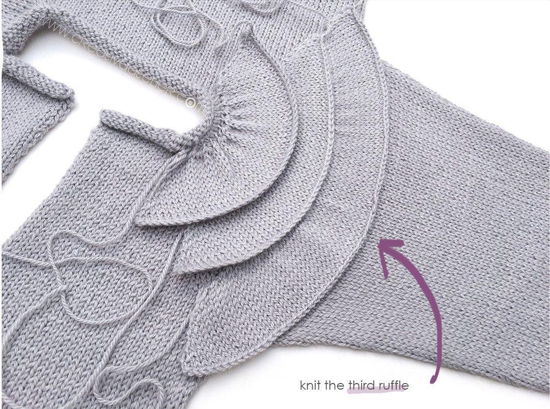 Photo of Rüschen Baby Sweater – Strickmuster & Tutorial