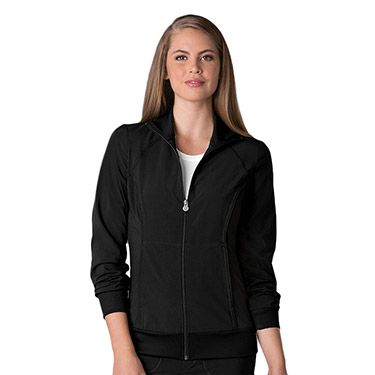 bf391eac0f1 Infinity by Cherokee with Antimicrobial Certainty Women's Warm Up Scrub  Jacket With Zip Front