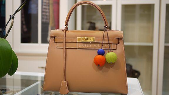 DIY Hermes Pom Pom Accessory for Handbags