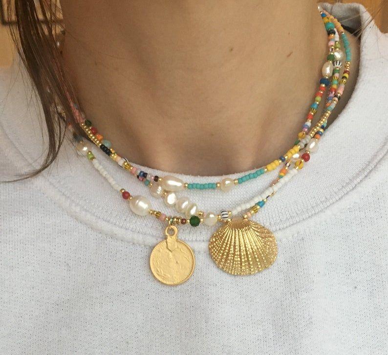Photo of Collier de chocker perlé coloré/collier de Boho/collier de   Etsy