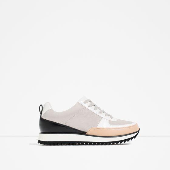 dc431c2d CONTRAST SNEAKERS Zapatillas Zara, Zapatos De Moda, Botas, Zapatos  Deportivos, Tenis De