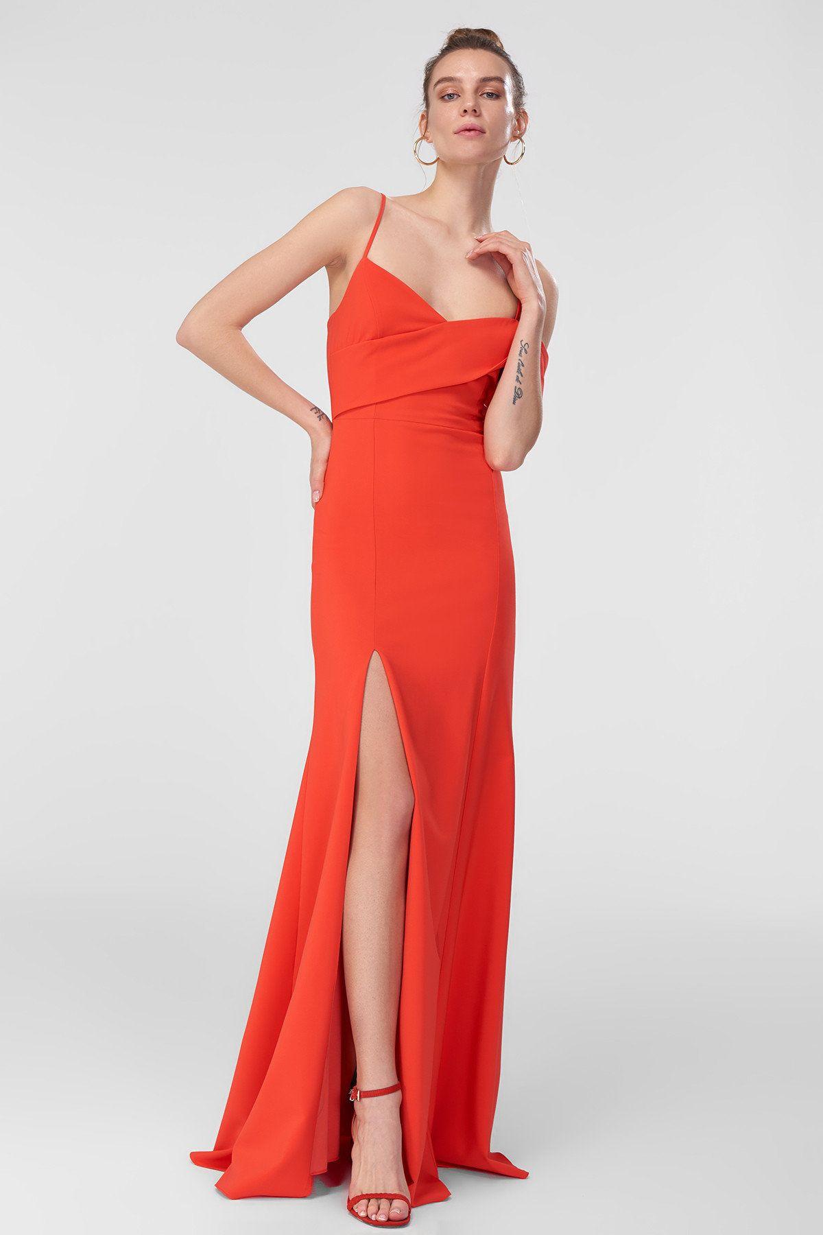 Nar Cicegi Tek Omuz Abiye Elbise Trendyolmilla Trendyol Elbise The Dress Resmi Elbise