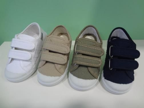 Zapatillas Niños Lona Velcro Por fin calzado infantil