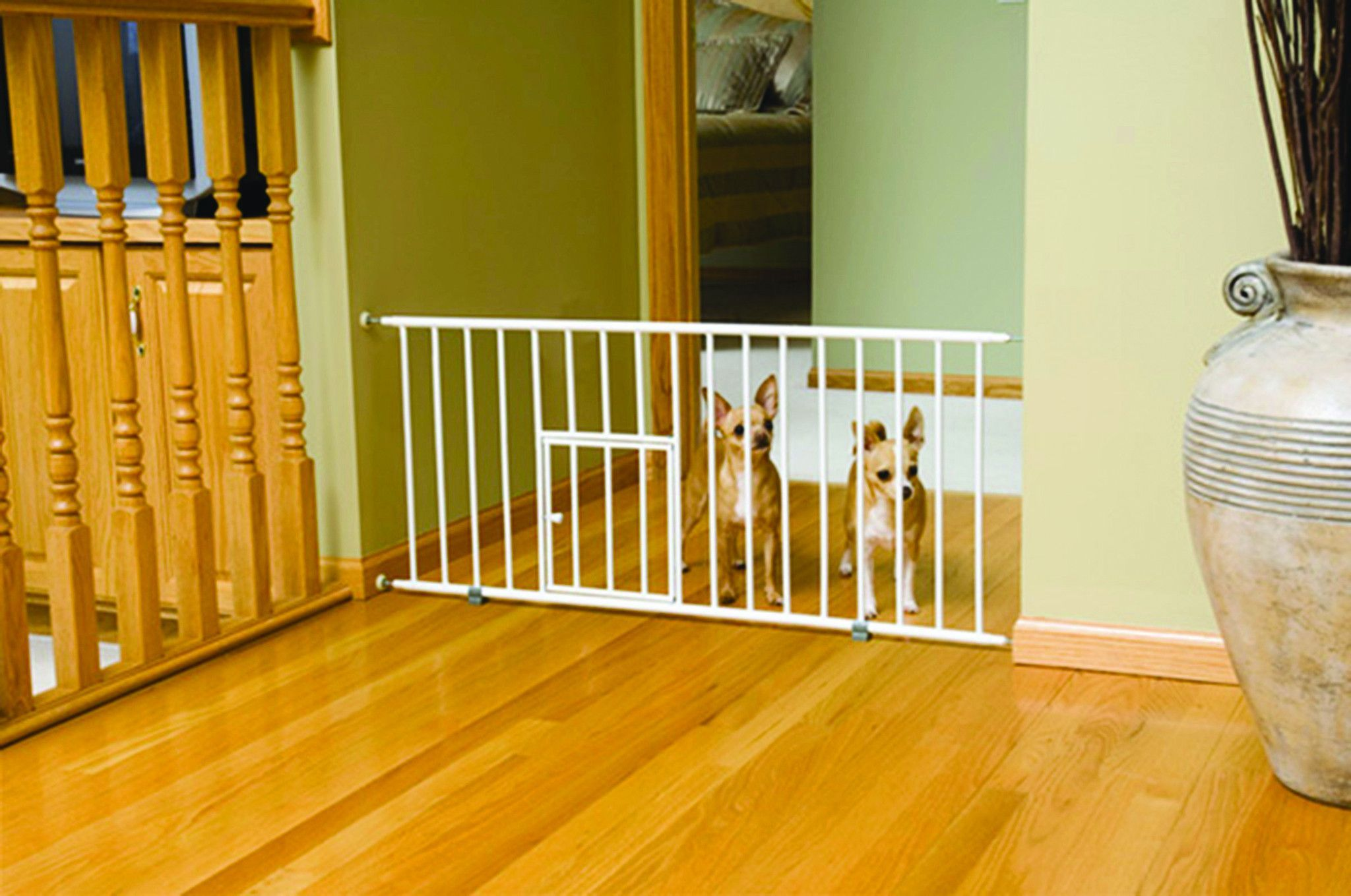 Carlson Pet Products Mini Gate With Pet Door   White : Target