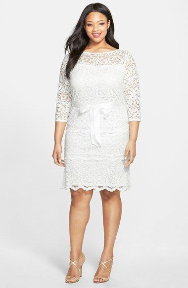 Plus Size Cocktail Dress Plus Size Party Dress Marina Tiered