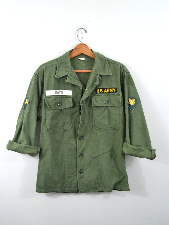 vintage army shirt army jacket green army by