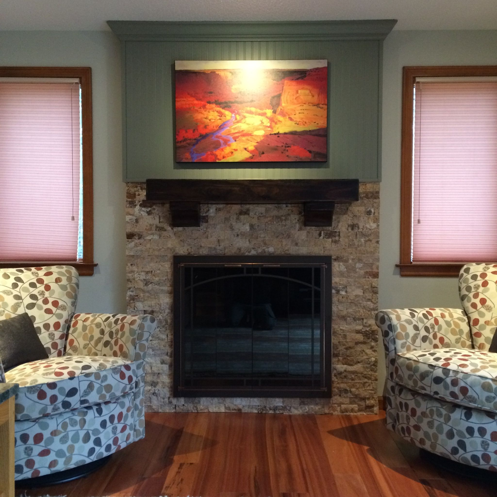 Front view of a Tuscany Scabas 2x4 Splitface fireplace ...