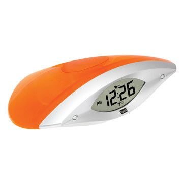 Water powered!  Wink Water Clock Bright Orange now featured on Fab.
