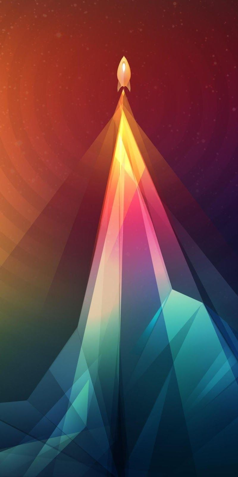 Colorful Rocket Launch Cool Wallpaper Rainbow Beautiful Nature