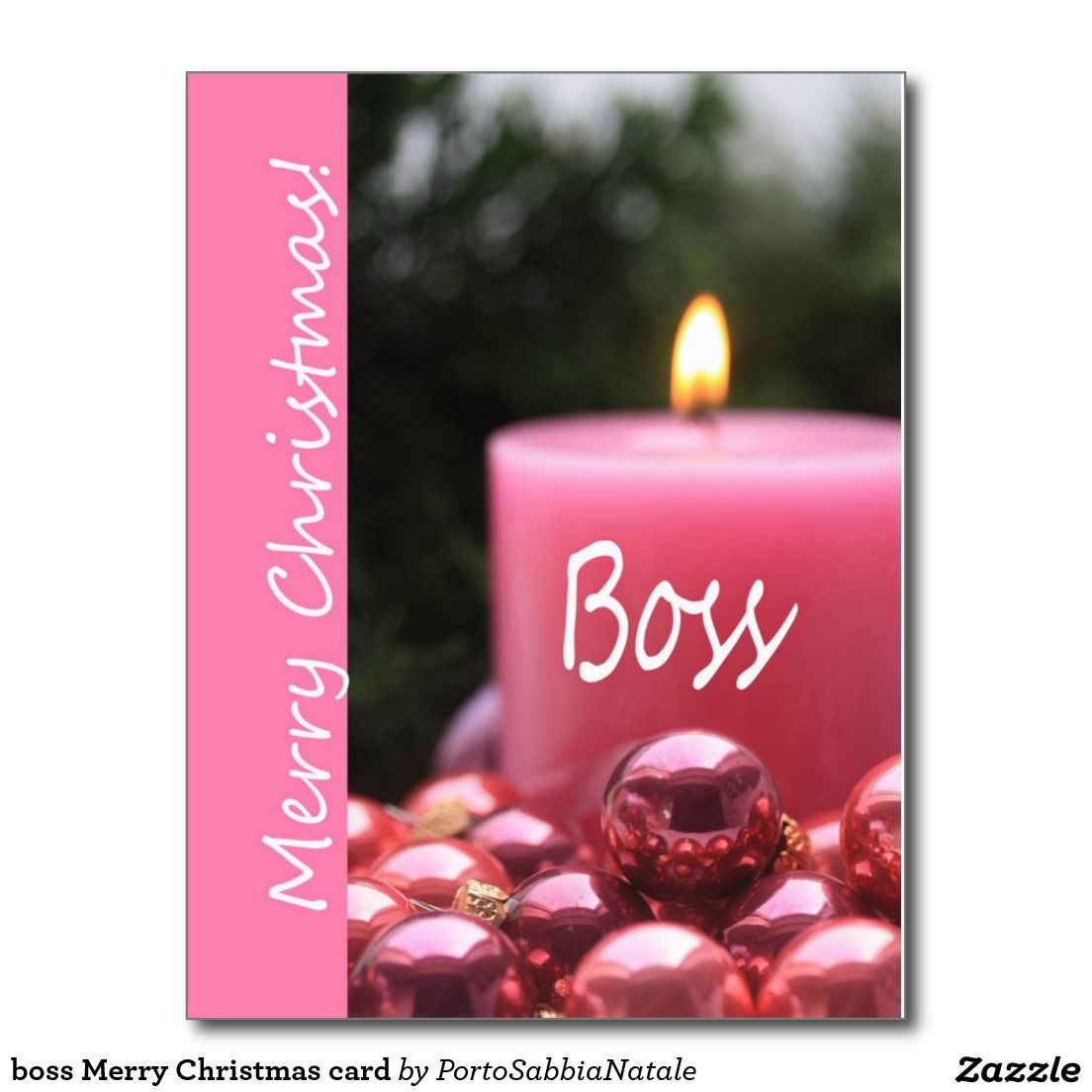 Boss merry christmas card postcard stuff sold on zazzle boss merry christmas card postcard kristyandbryce Image collections
