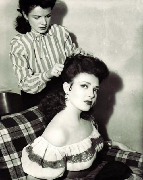 linda darnell coiffure in progress old hollywood. Black Bedroom Furniture Sets. Home Design Ideas