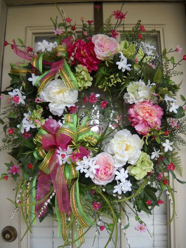"""""""SPRING SOIREE"""" EASTER, FRENCH COTTAGE, COUNTRY DOOR WREATH"""