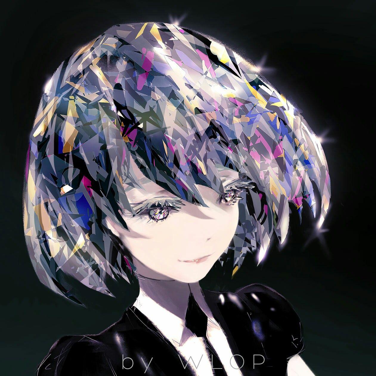 By Wlop 宝石の国 ダイヤモンド 目イラスト