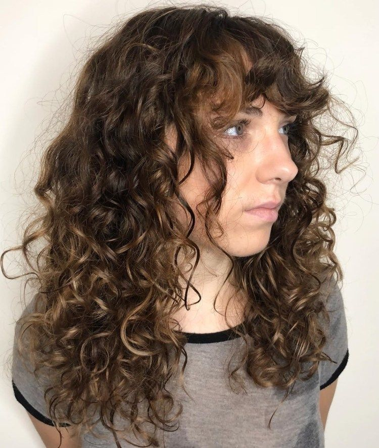 Layered Haircut With Bangs For Long Curly Hair Curly Hair Styles Naturally Curly Hair Styles Long Hair Styles