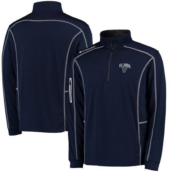 Villanova Wildcats Columbia Golf Shotgun Omni-Wick Quarter-Zip Pullover Jacket - Navy - $69.99