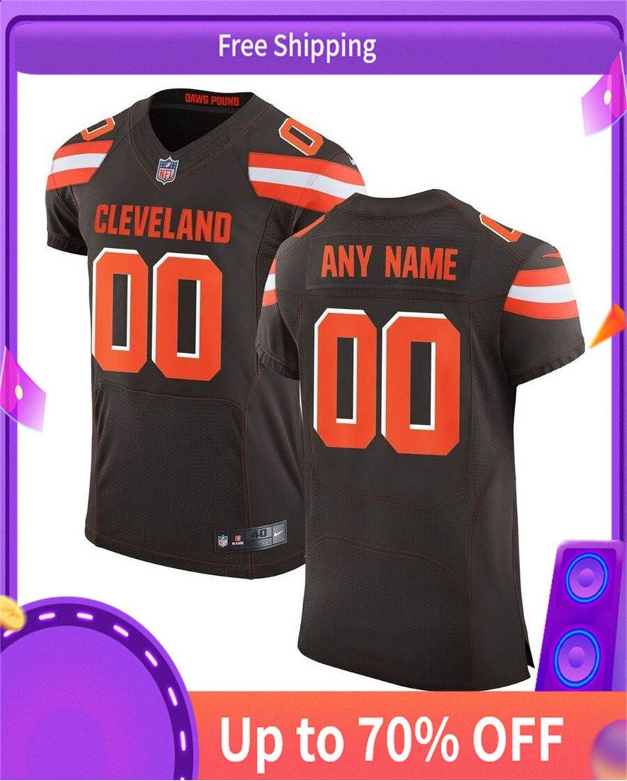 Online cheap ClevelandBrowns Nike Speed Machine Elite Custom Jersey - Brown#ToddGurley