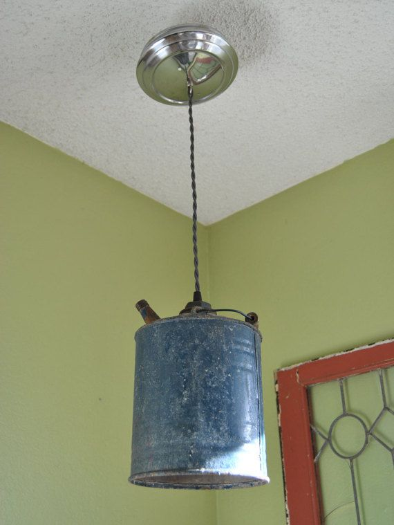 new arrival 08fed 5bda9 Vintage oil can, automobilia, hanging light, rustic decor ...