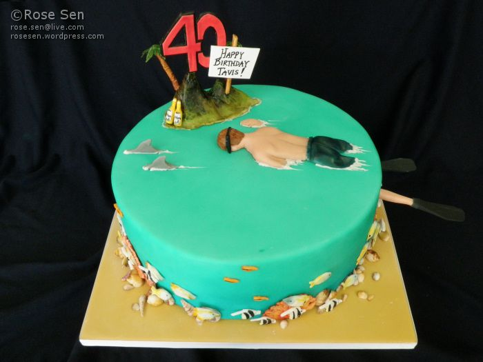 Ocean snorkellor cake coral reefs and cake ocean snorkellor coral reef cake sciox Image collections