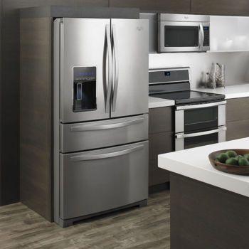 whirlpool 26cuft 4 door french door stainless steel refrigerator rh pinterest com
